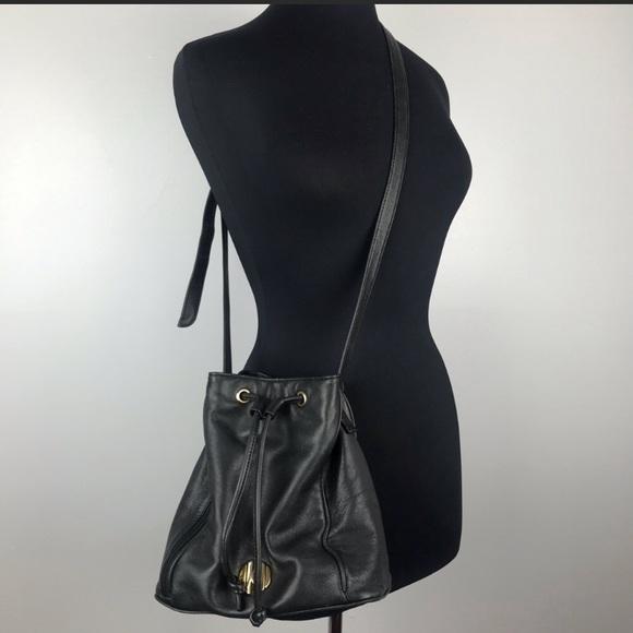 Anne Klein Handbags - Vintage Anne Klein leather bucket crossbody